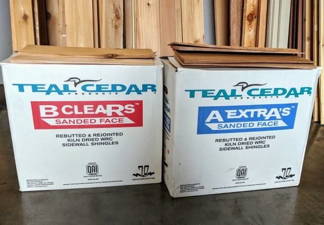 Canadian grown and milled, our Teal Cedar A Extras and B Clears will provide many years of service at a great price!