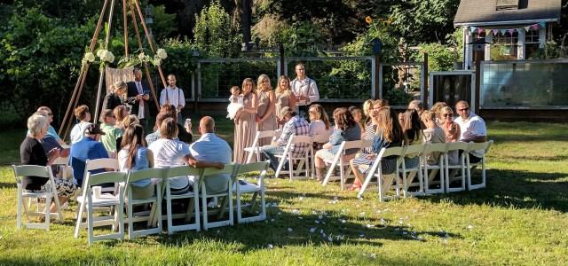 rustic garden wedding backdrop teepee
