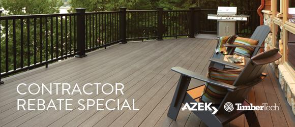 Azek and TimberTech Contractor Rebate