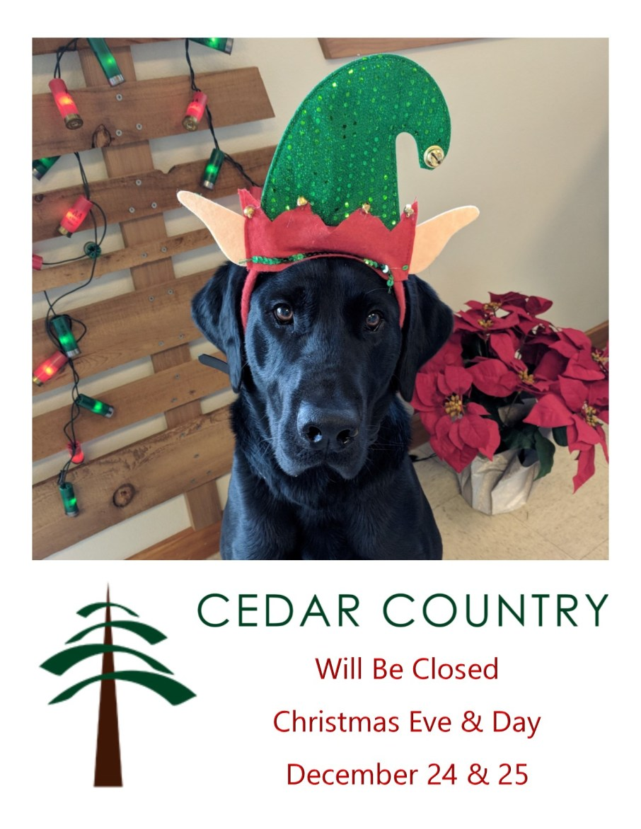 Cedar Country Christmas Hours 2018