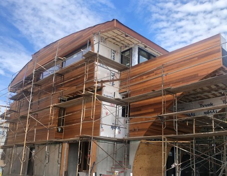 clear western red cedar siding