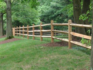Western Red Cedar Split Rail Fencing