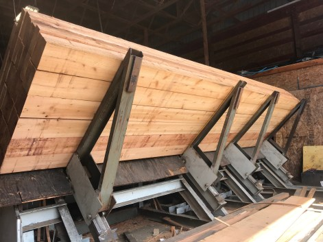 2x6 Western Red Cedar rough cut lumber