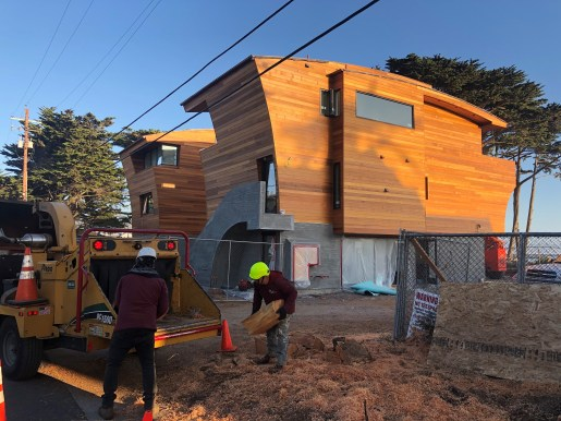 custom milled clear vertical grain T&g for exterior siding