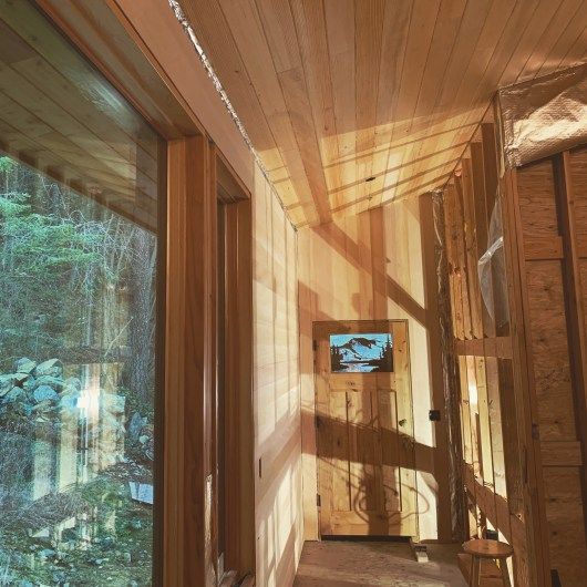 Douglas Fir Interior wood paneling