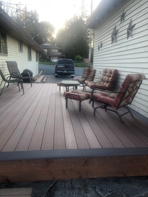 compare composite and PVC decking