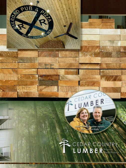 Owners Tom and Kym Kelly of Cedar Country Lumber