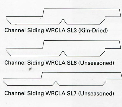 Western Red Cedar Channel siding profiles