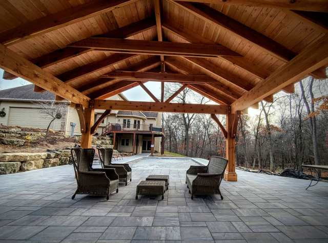 Western Red Cedar covered pergola