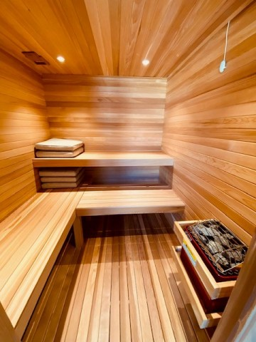 Clear Western Red Cedar is the ideal wood choice for use in saunas