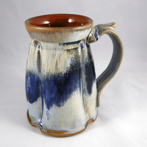 Large Stein Cream Blue