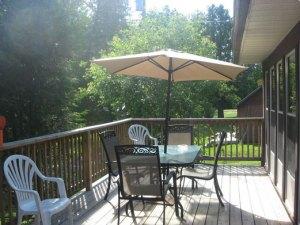 Prize Pickerel Cottage deck