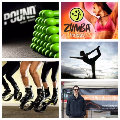 Pound, Zumba, Kangoo Jumps