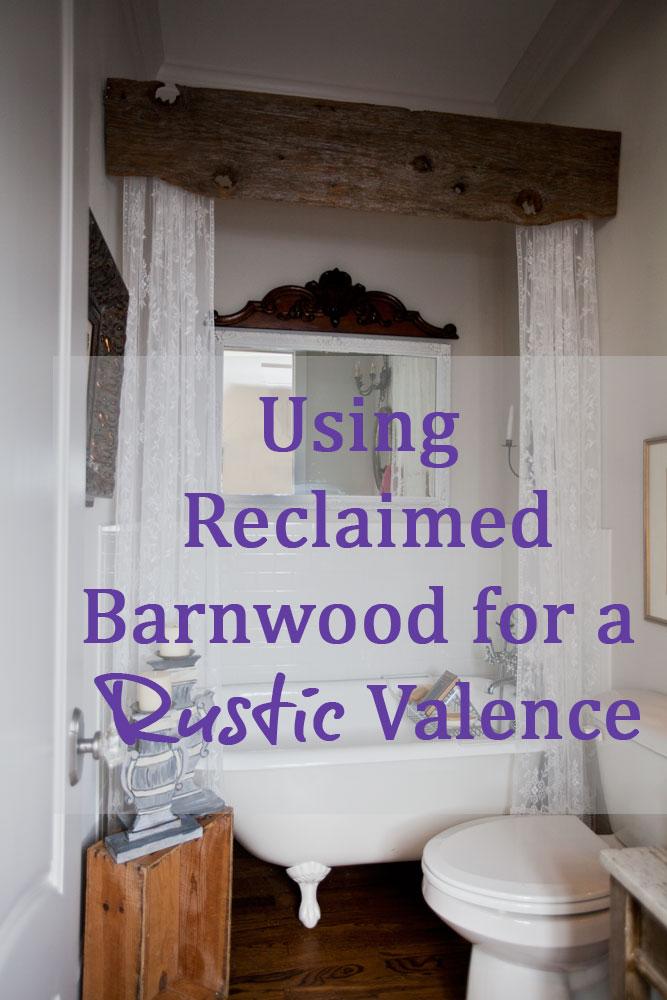 rustic valance for the bath cedar