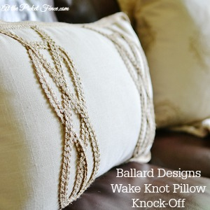 Ballard Designs Wake Knot Pillow knock-off 300x300