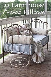 22 Farmhouse French Pillows - Cedar Hill Farmhouse