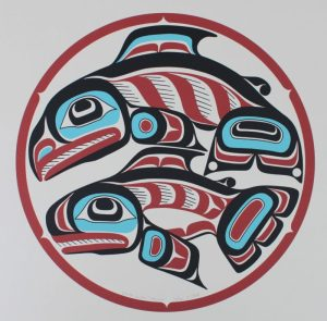 Haida Gwaii Salmon, Alvin Child, Salmon, Native Art Print, Indigenous Art, Northwest Coast Art, First Nations Art, Native American Art