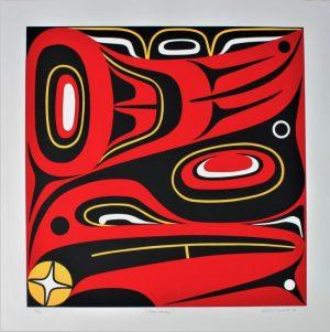 Haida Raven, Lyle Campbell, Native Art, Limited Edition Screen Print, Serigraph