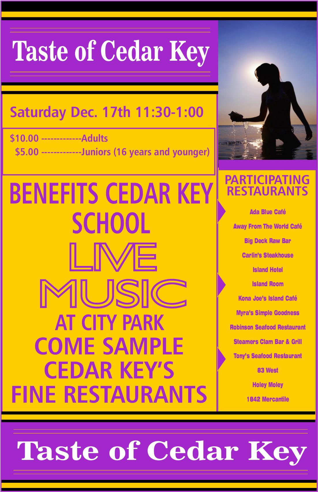 DEC 5 taste of cedar key flyer