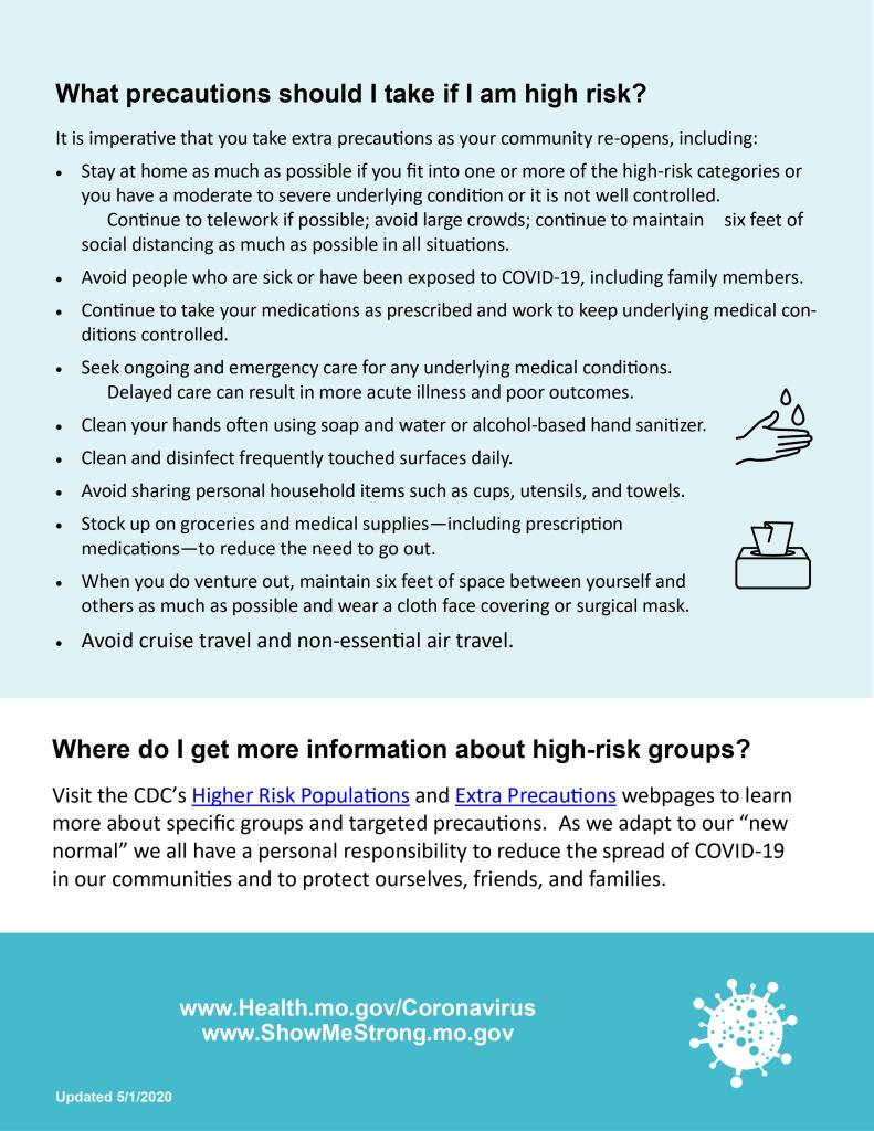 Page 2 Infographic on Stay-at-Home guidelines for St. Louis County