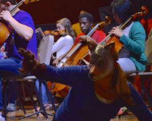 "Music, narration and choreography come together in the Bach Literacy Series ""Peter and the Wolf"" presentation Oct. 2 and Oct. 7 (Photo: Malia Rickards)"