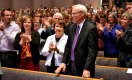 Pastor Rohm and his wife Lynn are introduced at the beginning of chapel.