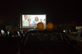 "Cedarville's second ALT night of the semester featured a drive-in movie for the first time. Students parked in the back half of the SSC parking lot and watched ""The Village"" on a big screen. The movie was also shown in the DeVries Theatre in the SSC."