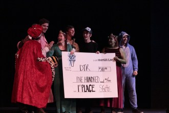 Cedarville's comedy org, DTR, wins the lip-sync performance by popular vote on the final night of Org Wars, Nov. 13. This win made DTR the 2015 Org Wars champions.