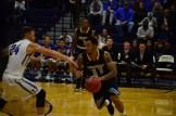 Dazhonetae Bennett plays against the opposing team's defense.(Photo: Allyson Weislogel