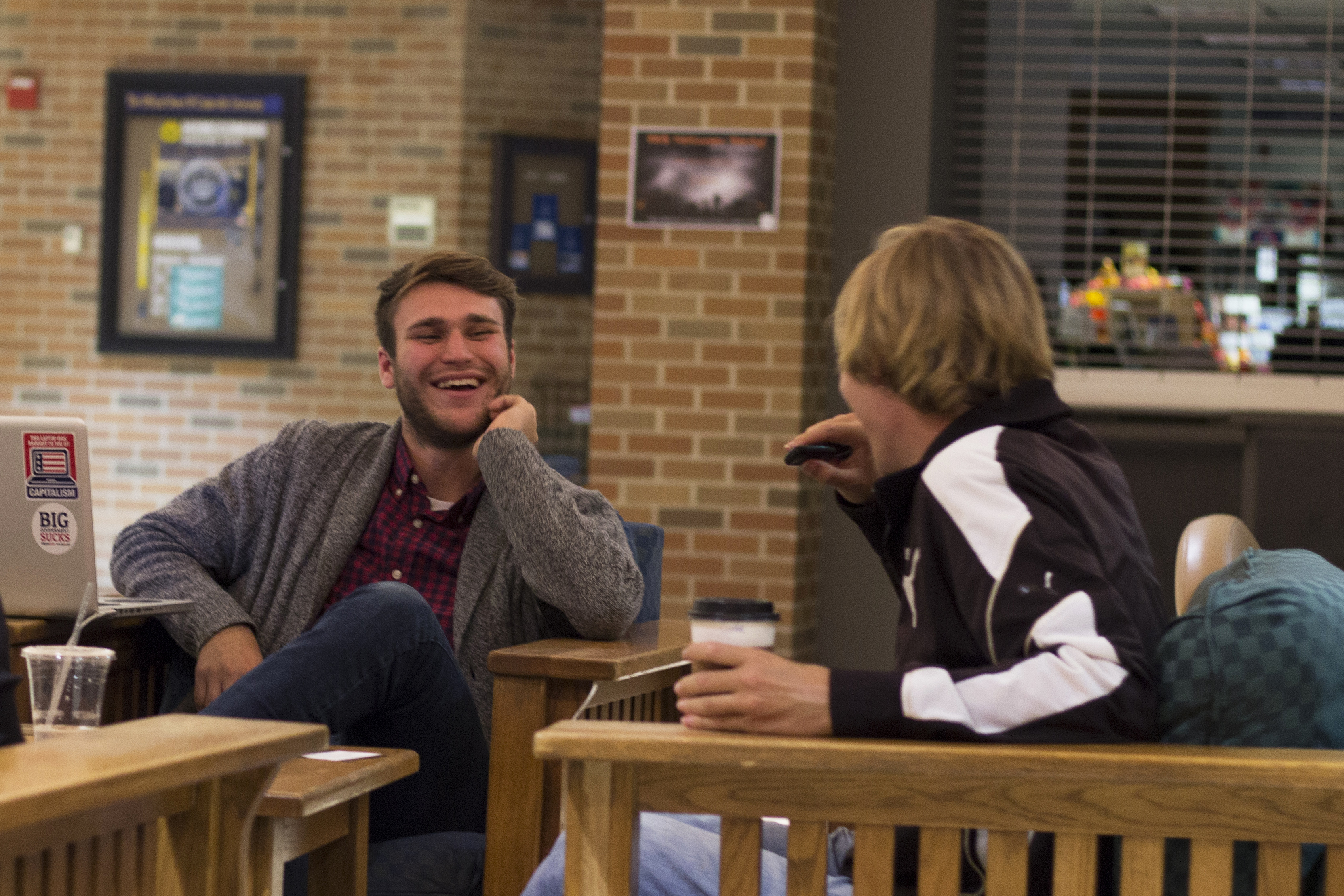 """To me, this event is not about attracting a huge number of students or even gaining a large following. It is about [t]rue, genuine relationships. Technology has created an environment of instant gratification with little effort. This culture of convenience has warped our definition of friendship."" - Sumrall enjoys one-on-one time with a prospective student during one of the less lively nights."