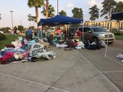 Houston Northwest Church aids in the relief effort through the collection and distribution of donations.