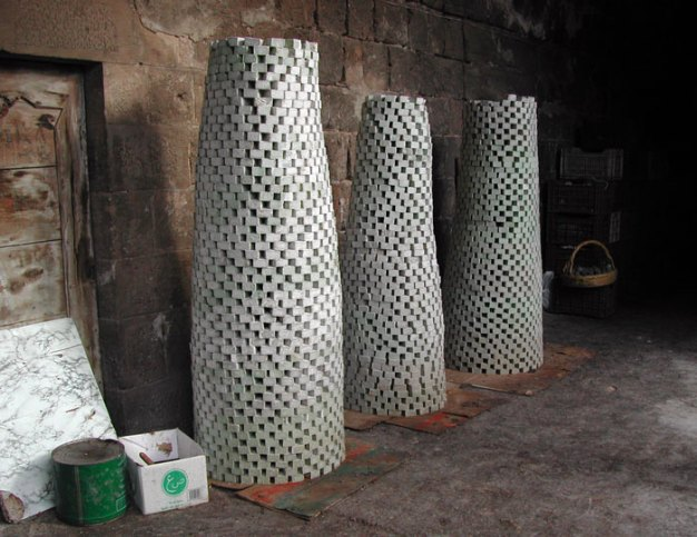 Drying towers of soap