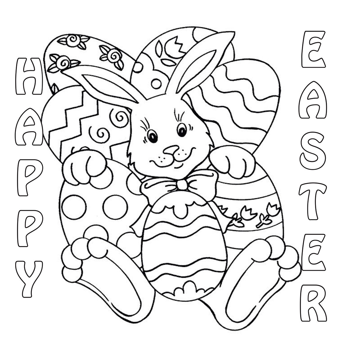 20 Of The Best Ideas For Easter Bunny Coloring Pages To