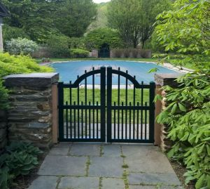 exterior home gate built by Cedars Woodworking