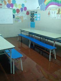 ANTES - Inundacion de aula
