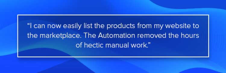automation process helped to sell on etsy