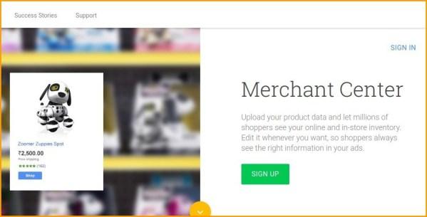 google shopping action merchant centre