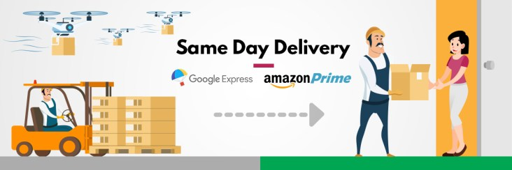 same day delivery google express or amazon prime