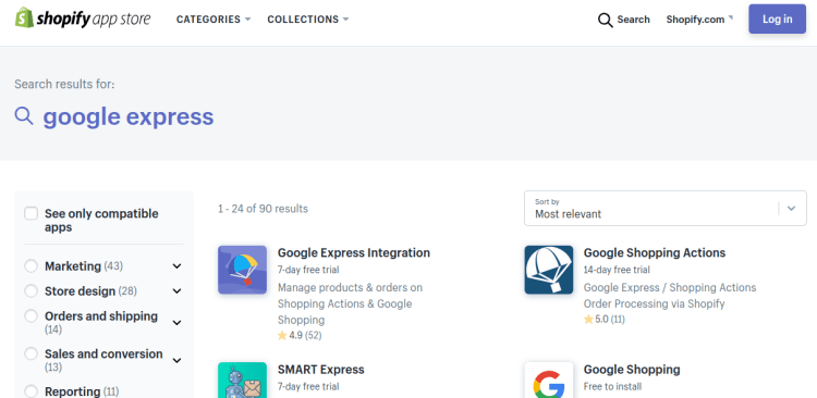 how to sell on Google Express App