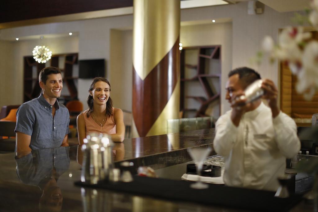 Couple at lobby bar 2