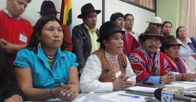 CONAIE: Llamado a la unidad por una instauración del Estado Plurinacional de los Pueblos (tomado de Kaos en la Red)