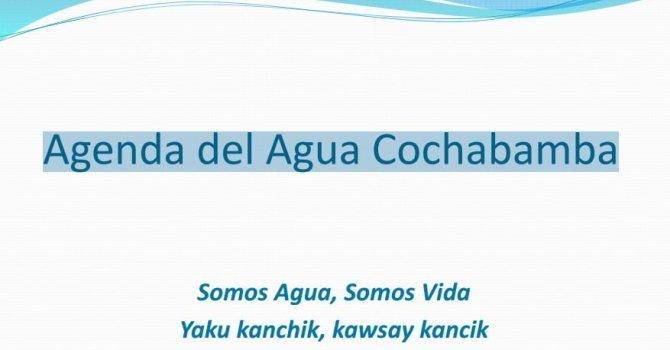Agenda del Agua Cochabamba –  Dirección de Planificación y Gestión Integral del Agua Gobernación Cochabamba