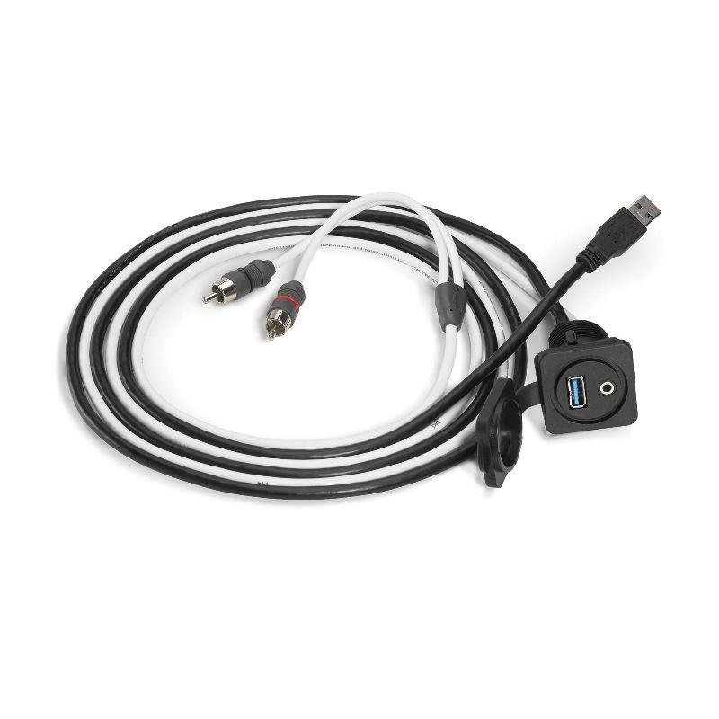JL AUDIO Combo 3.5 mm Audio Jack and 9-Wire USB Port for
