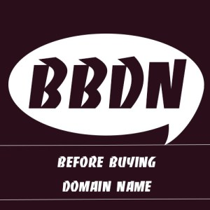 before buying domain name