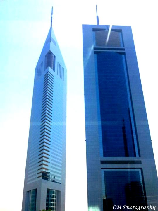 These are the Emirates Towers - Dubai *I love this design*