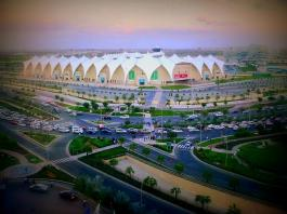Yas Marina Circuit - View from Hotel on Yas Island - UAE National Day