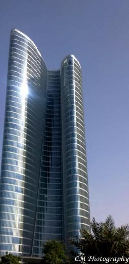 The ADIA Headquarters - Abu Dhabi *Yes that building folds in on itself*