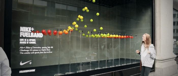 Nike Interactive Reactive Kinetic Window Displays CEEDs
