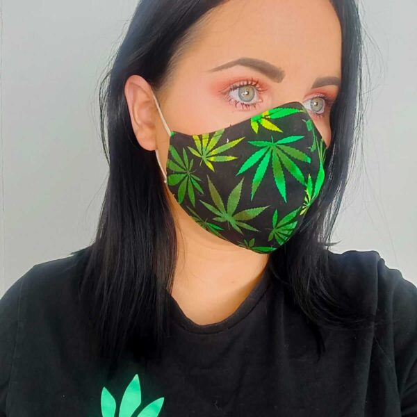 black-and-green-cannabis-face-masks