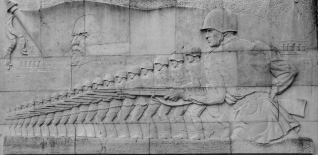 The shifting essence of Treptower Memorial, Berlin